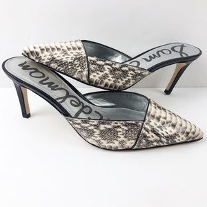 Sam Edelman Odelia Slide Pump Heel Snake Skin 8